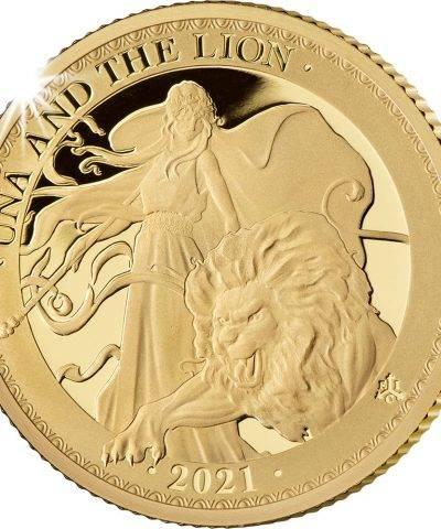 2021 Una & the Lion ¼ oz Gold Proof