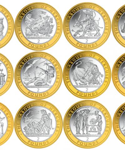2020 Gibraltar – 12 Labours of Hercules £2 BU Coins