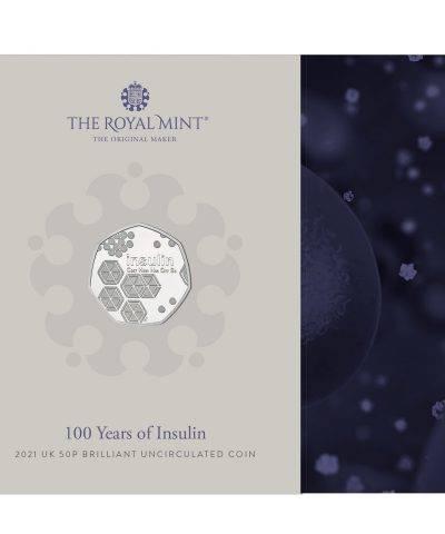 2021 100 Years of Insulin UK 50p BU