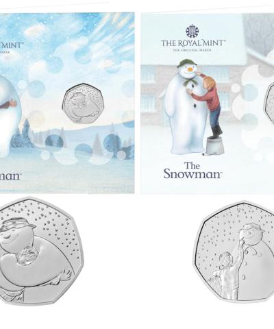 2020 – 2021 Snowman Christmas 50p BU Cards Set