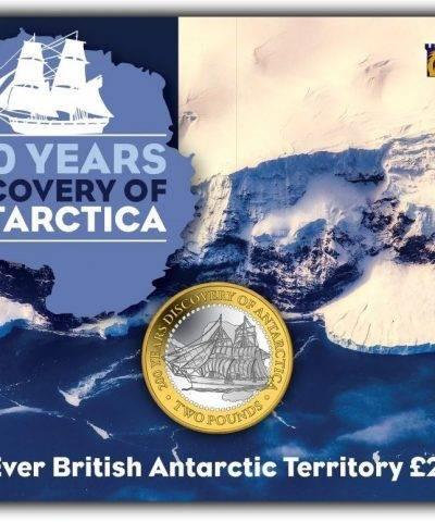 2020 Discovery of Antarctica £2 BU