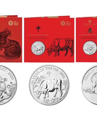 2020 – 2022 Lunar Years £5 BU (Set of 3 Coins)
