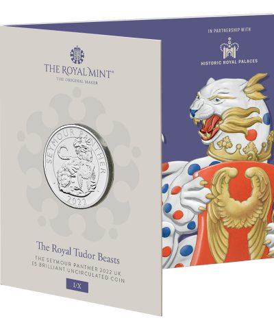 2022 Royal Tudor Beasts 01 Seymour Panther £5 BU