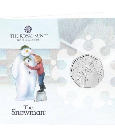 2021 Snowman Christmas 50p BU Card