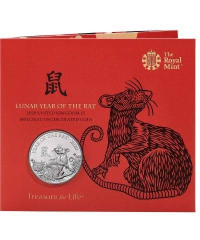 2020 Lunar Year of the Rat £5 BU