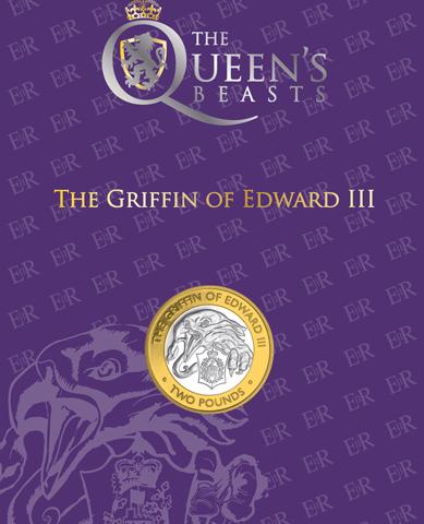 2021 Queen's Beasts – Griffin of Edwards III £2 BU