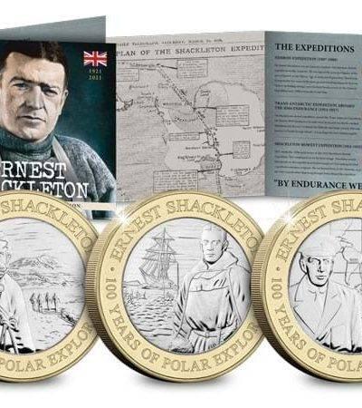 2021 Jersey Sir Ernest Shackleton £2 BU Set