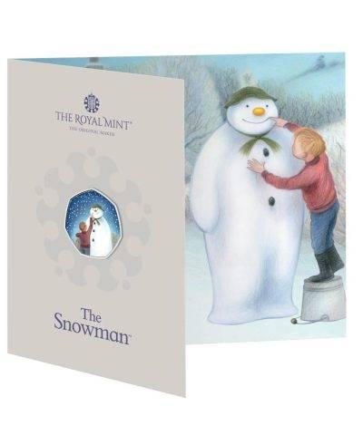 2021 Snowman Christmas 50p Coloured BU