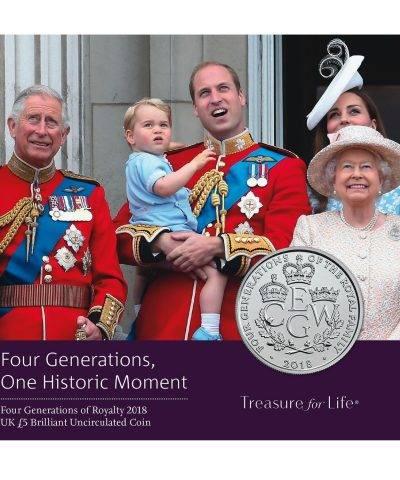 2018 Four Generations of Royalty 2018 £5 BU
